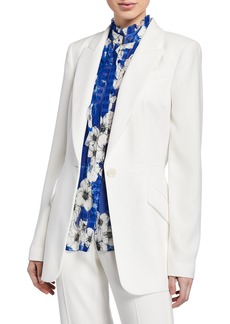 Elie Tahari Madison Peak-Lapel One-Button Jacket