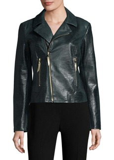 Elie Tahari Mae Textured Leather Jacket