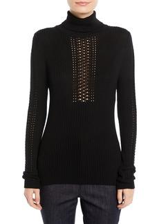 Elie Tahari Maelee Turtleneck Ribbed Sweater
