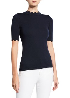Elie Tahari Maggie Scalloped Sweater