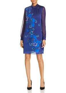Elie Tahari Malaysia Printed Silk Dress