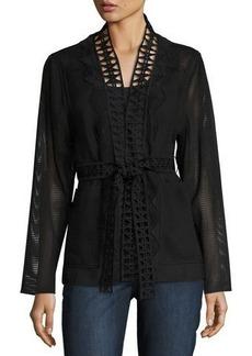 Elie Tahari Maliah Textured Topper Jacket