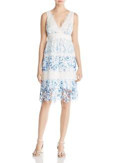 Elie Tahari Malina Floral Lace Dress