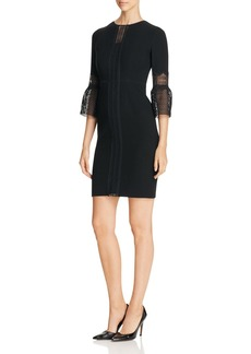 Elie Tahari Mallory Lace Panel Sheath Dress