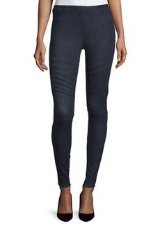 Elie Tahari Mallory Moto Skinny Jeans