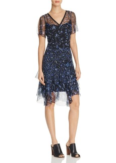 Elie Tahari Marceline Floral Print Silk Dress
