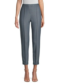 Elie Tahari Marcia Diamond Stretch-Jacquard Pants