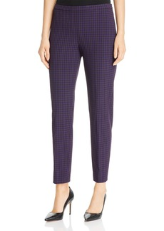 Elie Tahari Marcia Modern Plaid Pants