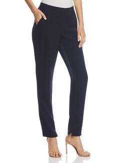Elie Tahari Marcia Silk-Inseam Cropped Pants