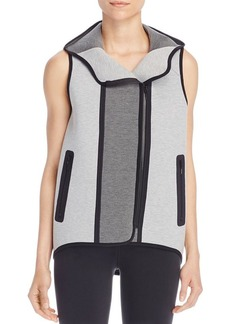 Elie Tahari Margie Hooded Color Block Vest