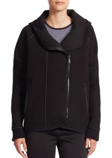 Elie Tahari Margie Hooded Zip-Front Jacket