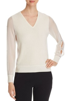 Elie Tahari Maria Slit-Sleeve Sweater