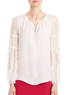 Elie Tahari Marielle Slim-Fit Silk Blouse