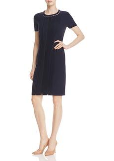 Elie Tahari Marion Pleat Front Dress
