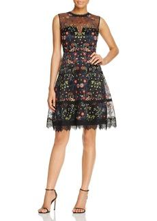 Elie Tahari Maritza Floral Embroidered Dress