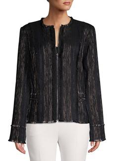 Elie Tahari Marlyn Front Zipper Jacket