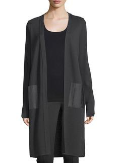Elie Tahari Maurine Long Merino Wool Sweater