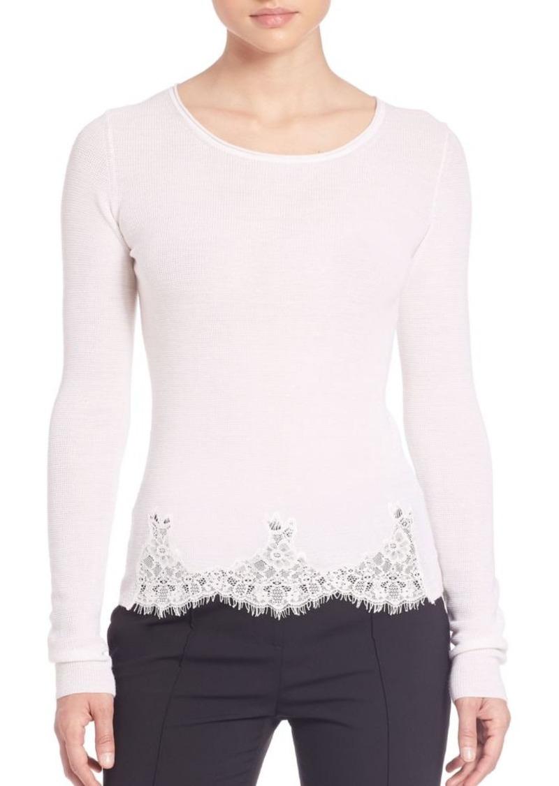 Elie Tahari Maya Lace-Detail Sweater