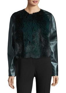 Elie Tahari Maybelle Fox Fur & Leather Jacket