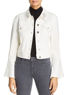 Elie Tahari Meggy Embellished Denim Jacket