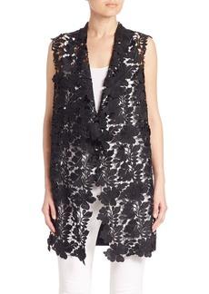 Elie Tahari Melissa Floral Lace Vest
