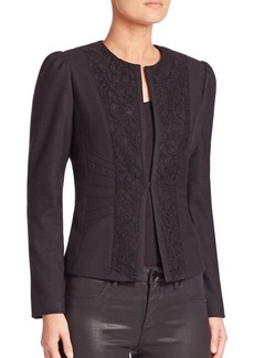 Elie Tahari Melody Lace Panel Jacket