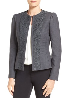 Elie Tahari 'Melody' Lace Trim Jacket