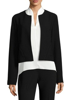 Elie Tahari Mercedes Cropped Jacket