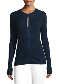 Elie Tahari Illusion Wool Sweater