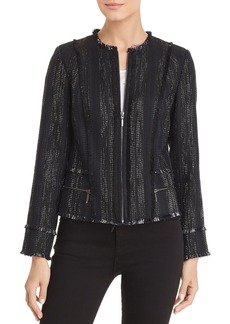 Elie Tahari Merlyn Tweed Zip-Front Jacket