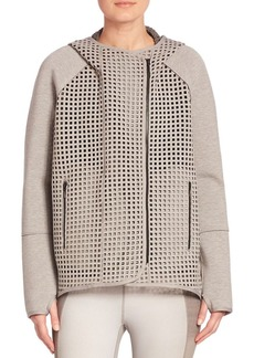 Elie Tahari Mesh Hooded Sweatshirt