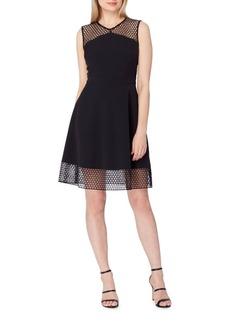 Elie Tahari Mesh Lace Fit-&-Flare Dress