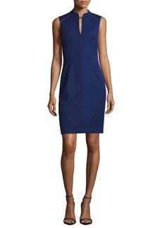 Elie Tahari Michelle Sleeveless Embellished Sheath Dress