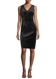 Elie Tahari Mikaya Sleeveless Velvet Dress