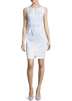 Tahari Woman Mila Sleeveless Zip-Front Sheath Dress