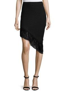 Elie Tahari Mindy Asymmetric Tweed Skirt