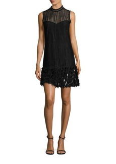 Elie Tahari Mirage Feathered Dress