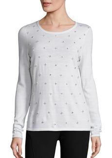 Elie Tahari Miranda Embellished Sweater