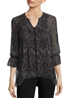 Elie Tahari Miriam Asymmetrical Silk Blouse