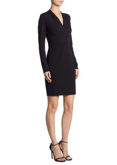 Elie Tahari Mock Wrap Long Sleeved Dress
