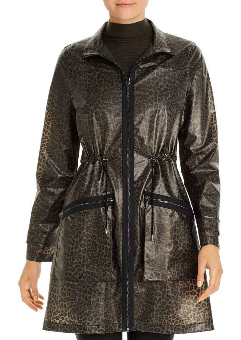 Elie Tahari Molly Leopard-Print Rain Trench - 100% Exclusive