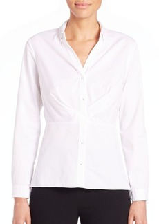 Elie Tahari Morgan Ruched Blouse