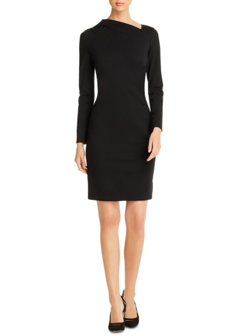 Elie Tahari Mozelle Asymmetrical-Neck Sheath Dress