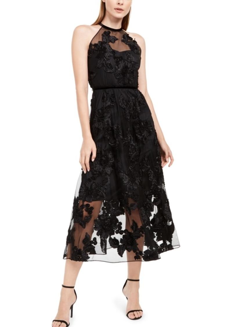 Elie Tahari Myranda Embellished Floral Dress