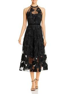 Elie Tahari Myranda Floral Appliqu� Dress