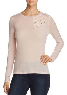 Elie Tahari Nani Lightweight Embellished Sweater - 100% Exclusive