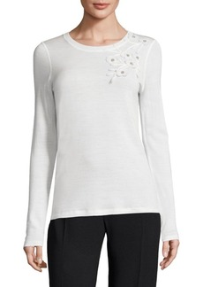 Elie Tahari Nani Wool Sweater