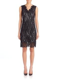 Elie Tahari Naya Lace-Overlay Dress
