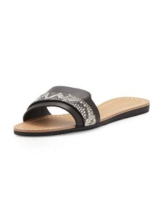 Elie Tahari Negril Leather Slide Sandal