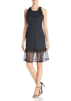 Elie Tahari Nerissa Eyelet Detail Dress